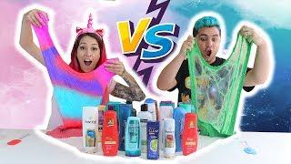 DESAFIO DO SHAMPOO SECRETO DE SLIME  (Don't Choose the Wrong Shampoo Slime Challenge )