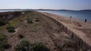 Protection du tombolo ouest de Giens, plage de l'Almanarre - Hyères, France