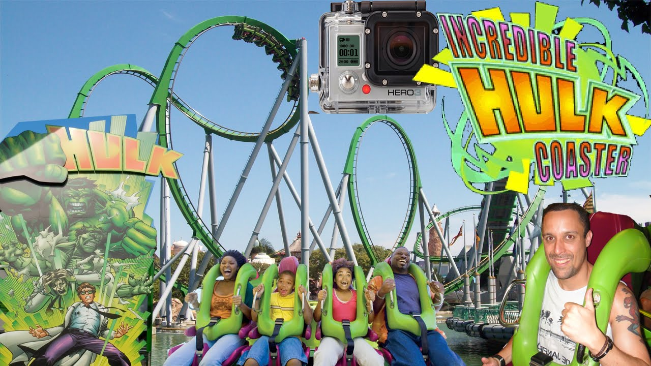 Incredible hulk roller coaster