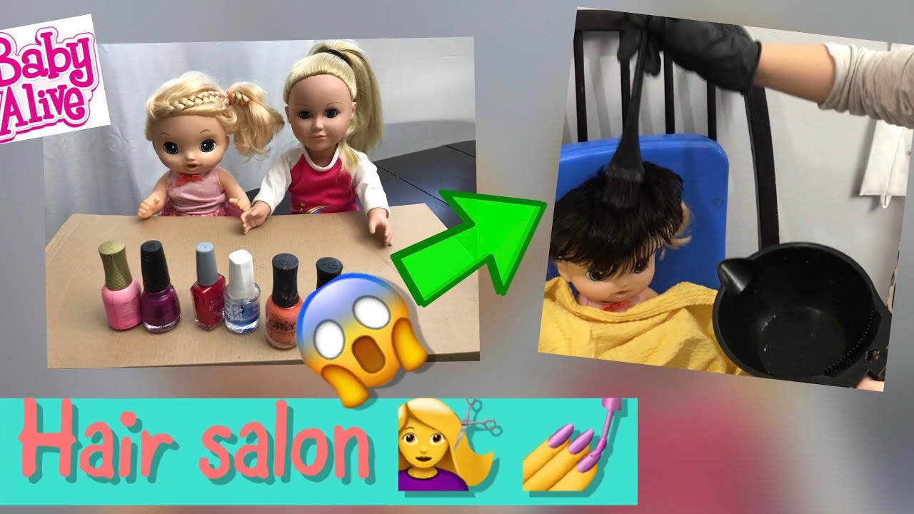 BABY ALIVE Hair And Nail Salon 💇 Baby Alive Videos - YouTube