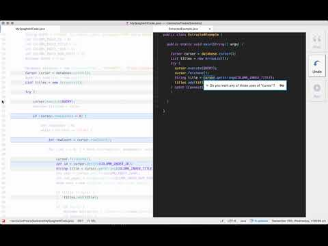 Interactive Extraction of Examples from Existing Code Video Figure