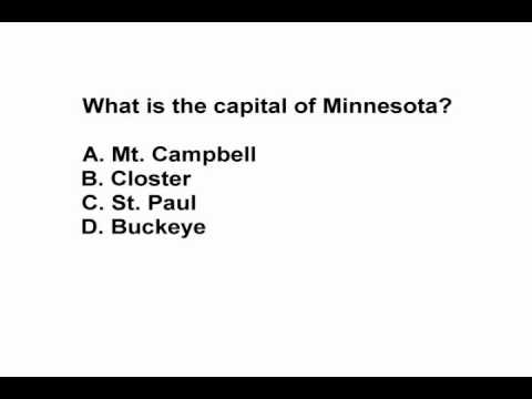 State Capitals Practice Test