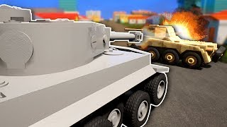 TANK BATTLE WITH TEAMS! - Brick Rigs Multiplayer Gameplay