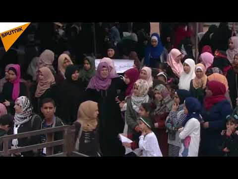 Gaza: Thousands of Gazans March Near Israeli Border