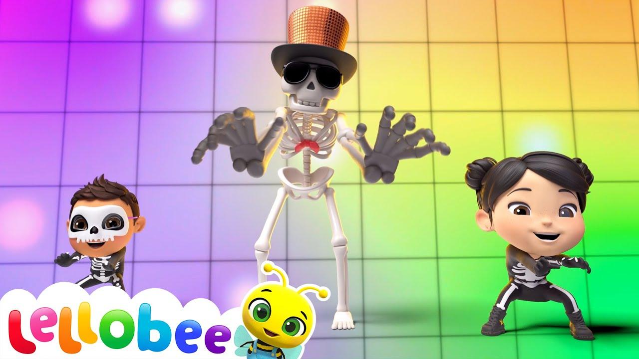 Halloween Skeleton Dance | @Lellobee City Farm - Cartoons & Kids Songs | Halloween Videos For Kids