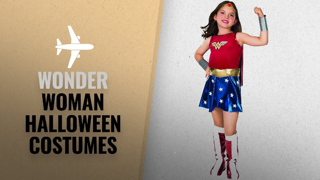 0d7ad14d779 Top 10 Wonder Woman Halloween Costumes [2018]: Super DC Heroes Wonder Woman  Child's Costume, Small