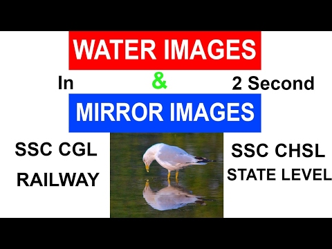 Mirror s and Water s  NonVerbal Reasoning  SSC CGL  SSC CHSL  RAILWAY