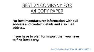 A4 copy paper THAILAND