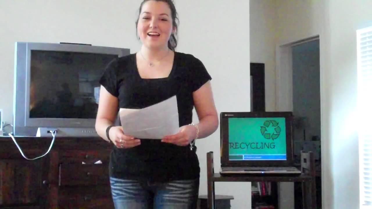 Persuasive speech on recycling