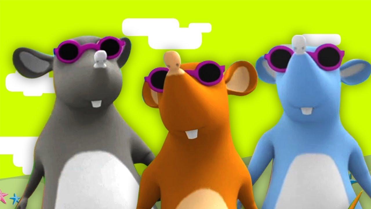 tre blinde mus   børn rimer   dansk digt   Børns sange   Rhymes for Children   Three Blind Mice