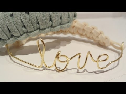 ❥ DIY Wire & Square Knot Bracelet {Customizable}