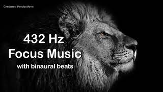 Deep Focus Music with 432 Hz Tuning and Binaural Beats for Concentration - Study Music