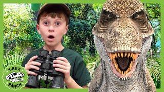 Dinosaurs & Park Rangers Face Off! T-Rex Ranch Jurassic Dinosaurs for Kids!