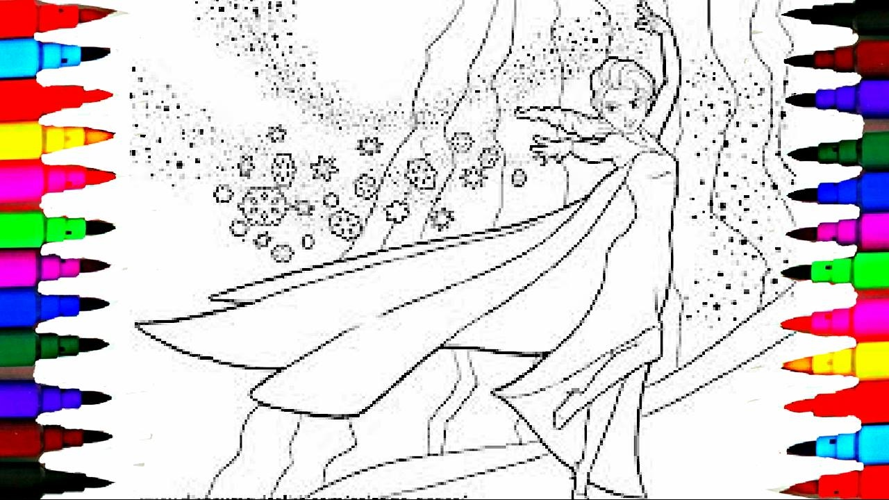 Disney Frozen Princess Best Learning Coloring Book Pages For