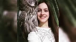 Милое видео дружбы совы и человека... любовь совы и человека.