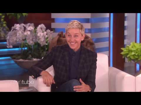 Ellen reacting and trying to speak Mandarin, and Korean (compilation)