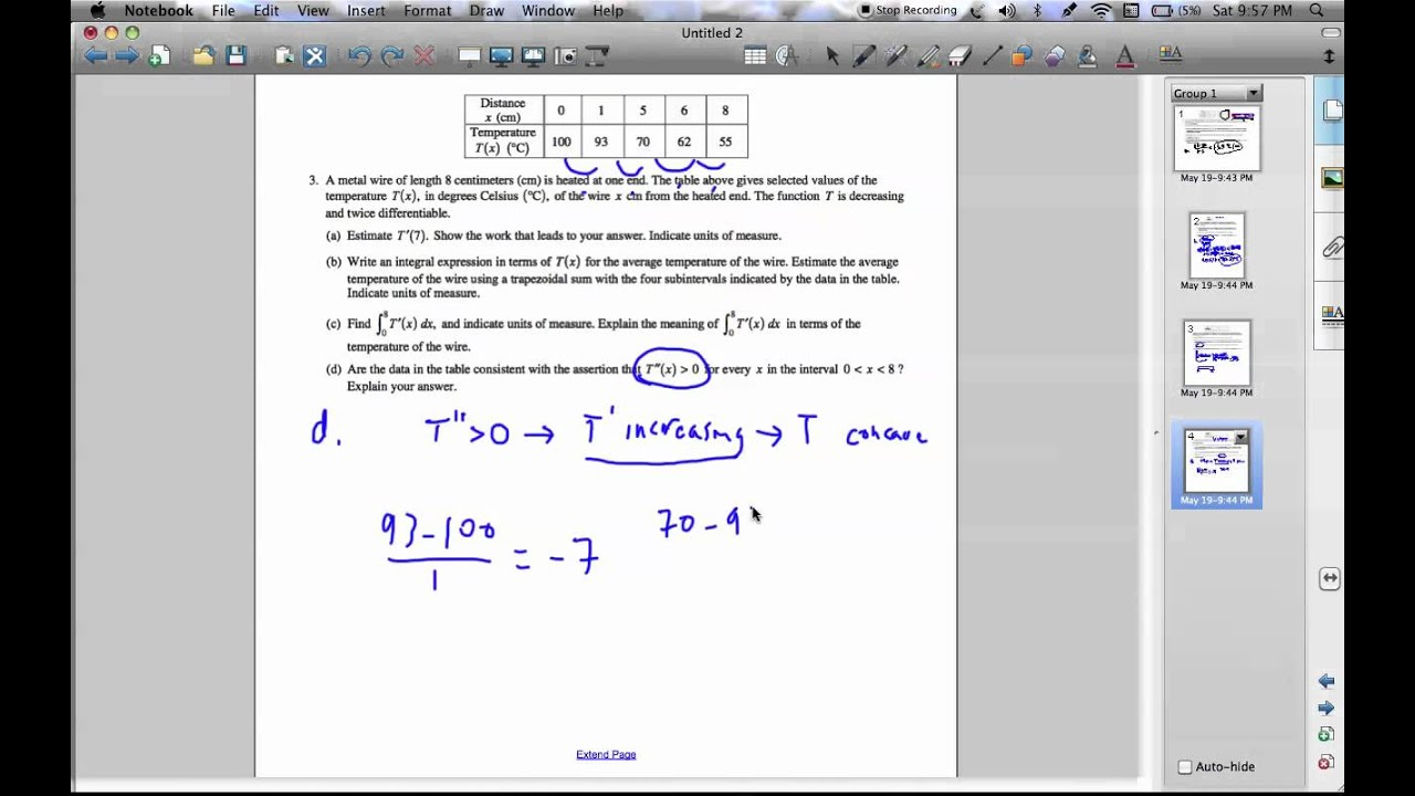 3. d. - 2005 AP Calculus AB Free Response - YouTube