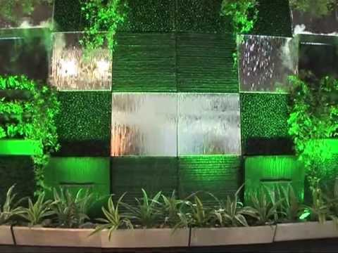Muro D Acqua Per Interni : Waterwall fontana a parete modulare youtube
