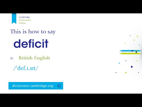 How to say deficit