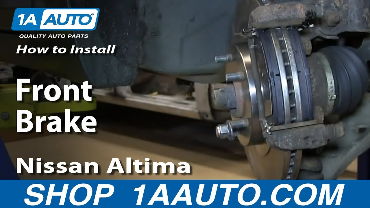 How To Replace Front Brakes 02 06 Nissan Altima Youtube