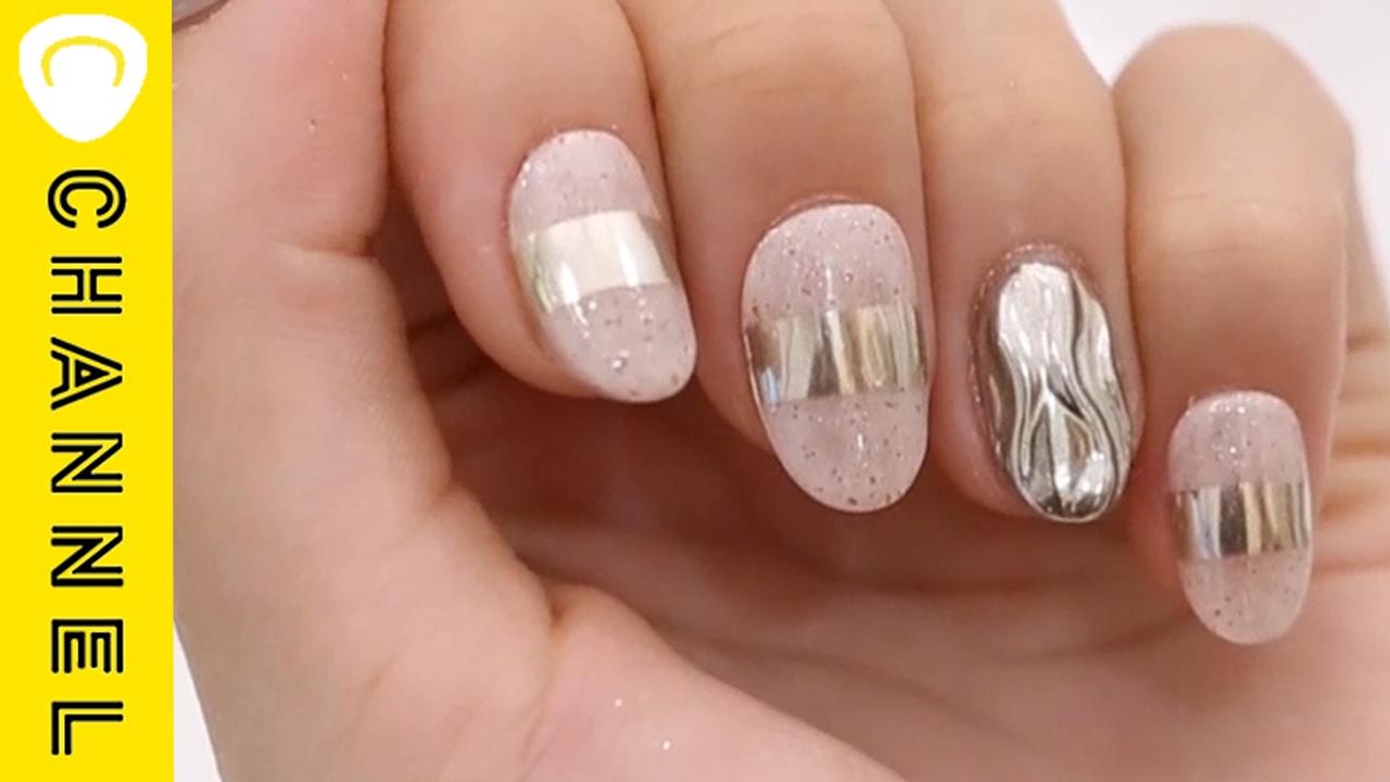 ウェーブミラーネイル │ Wave Mirror Powder Nails