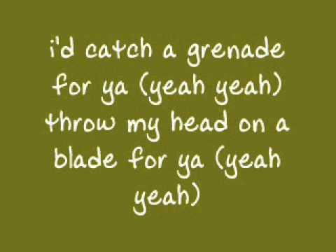 Bruno Mars Grenade Lyrics