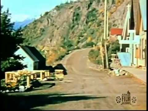 Telegraph Creek in 1939, filmed as part of Slim WIlliam's Alaska Highway route expedition