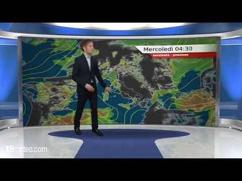 Previsioni meteo Video per mercoledi, 23 maggio