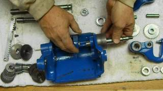 South Bend restore #8 gear box assembly