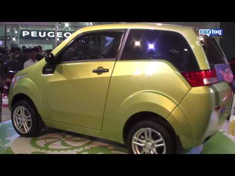 Mahindra Reva NXR video review from Auto Expo 2012 by CarToq.com