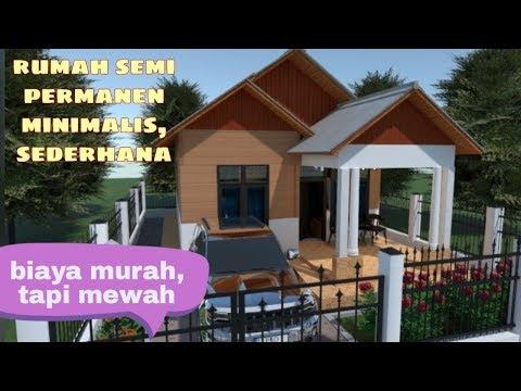 Desain Rumah Minimalis Ukuran 6x8  rumah minimalis semi permanen 6x8 meter sederhana dan biaya