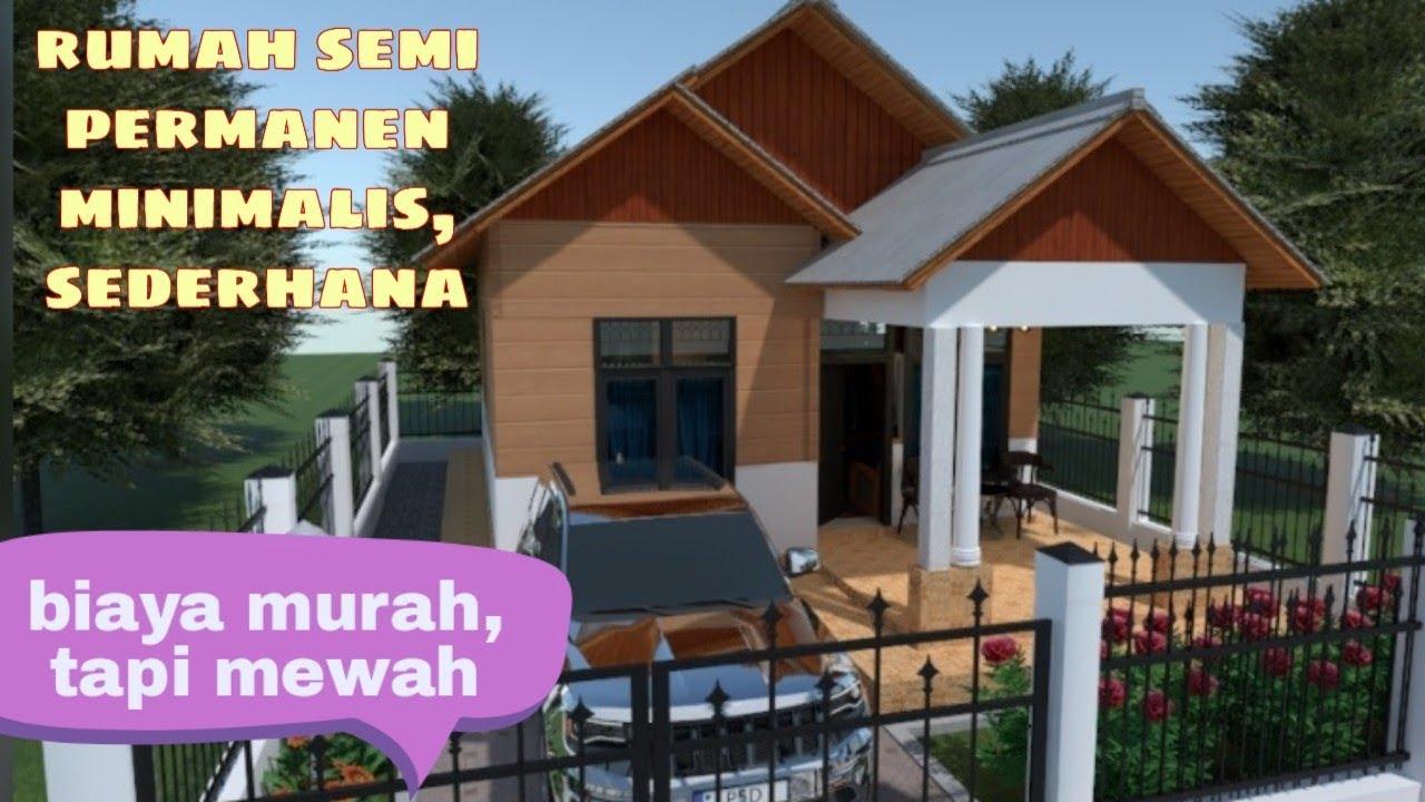 Rumah Murah Semi Permanen 6x8 Meter Minimalis Sederhana Youtube