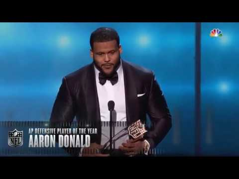 Aaron Donald Wins 2017 NFL Defensive Player of the Year Award | 2018 NFL Honors