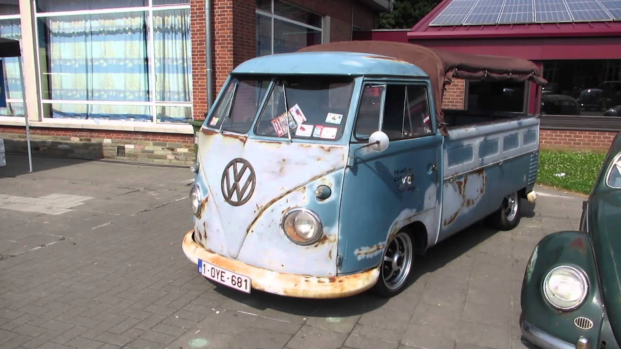 Volkswagen New Truck >> vw t1 pickup pt1 @ lubbeek 2013 - YouTube