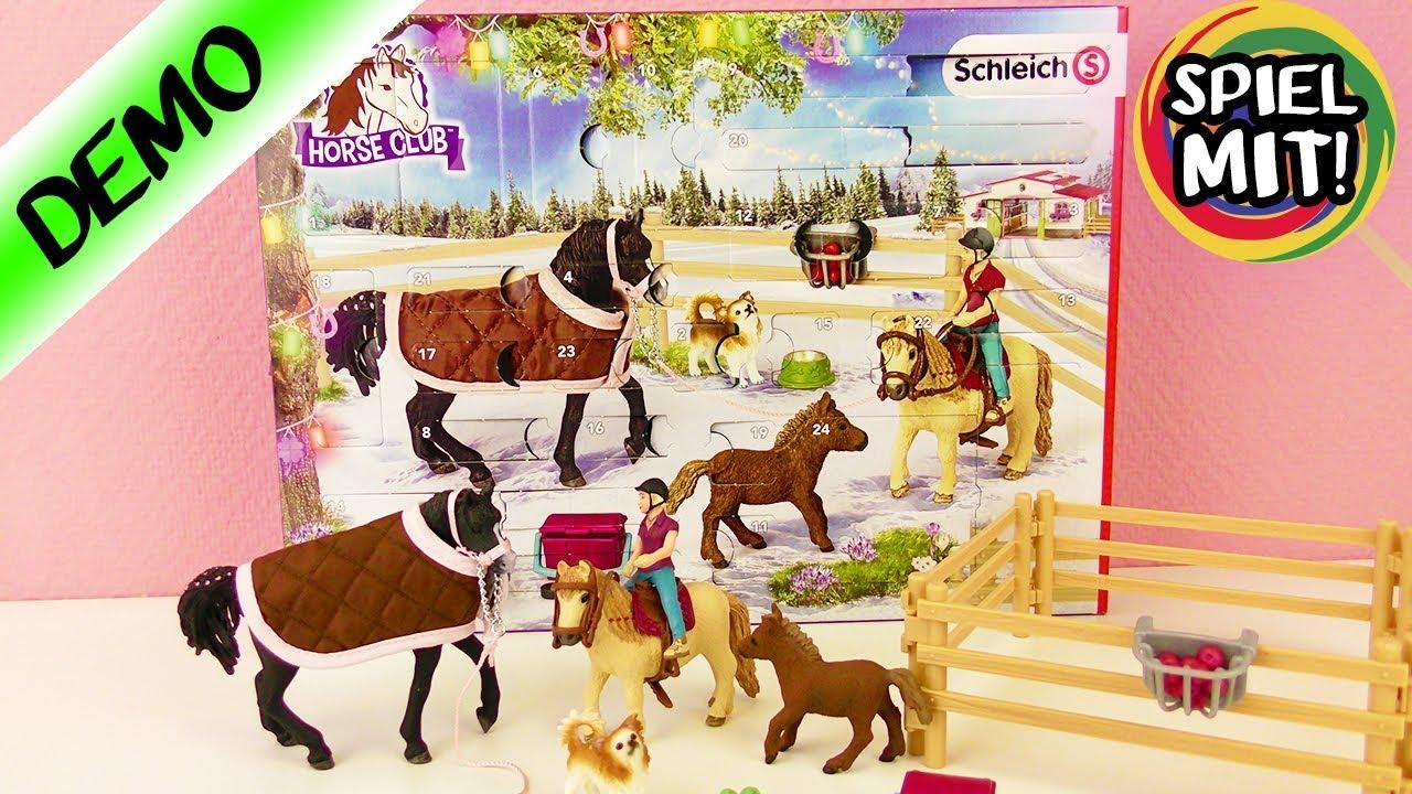 Weihnachtskalender Schleich Pferde.Adventskalender 2017 Schleich Horse Club Unboxing Wir öffnen Alle 24 Türchen Advent Calendar