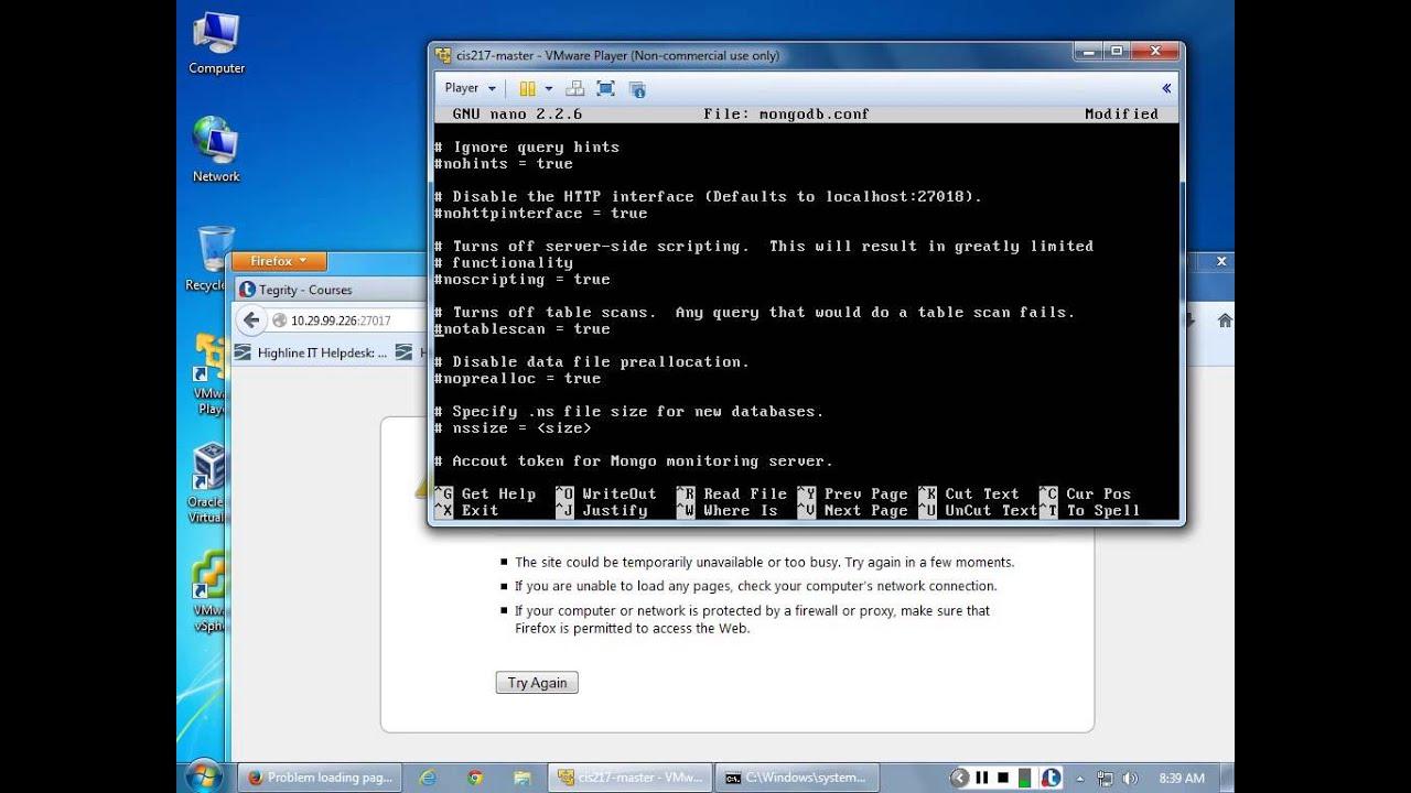 MongoDB Configuration File Walk Through Ubuntu Server