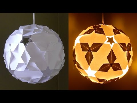 DIY paper lantern (star ball) - learn how to make a puzzle IQ light - EzyCraft