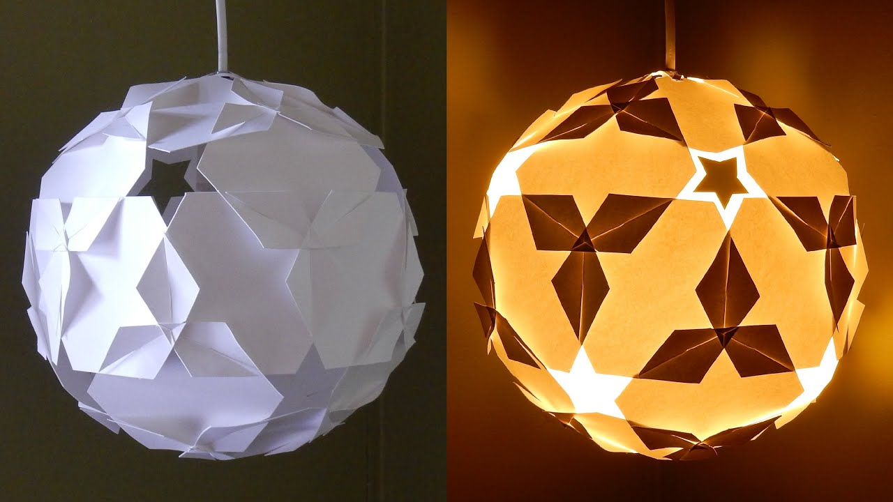 DIY paper lantern (star ball) - learn how to make a puzzle ...