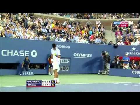 US open Final 2011 Djokovic vs Nadal-Last game