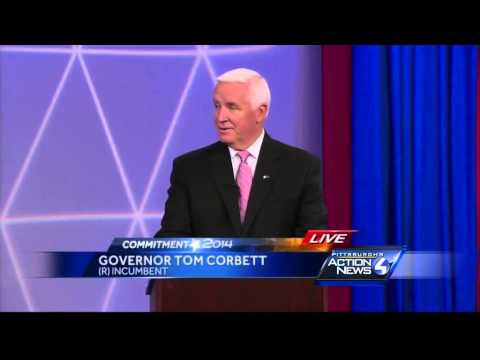 Corbett, Wolf meet at WTAE in final Pa. gubernatorial debate