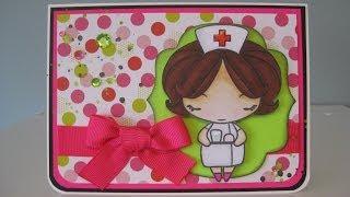 """""""Neon Nurse Anya"""" Card"""