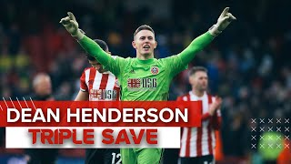 Watch this amazing double save from manchester united loanee dean henderson as he pulls off a truly against norwich. sheffield 1 -...
