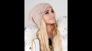 Шапка спицами-мода 2018.Вязаная шапка для женщин.Модная шапка