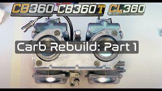honda cb360 carburetor rebuild part 1