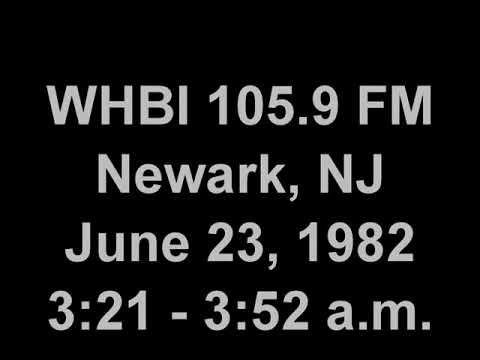 "WHBI 105.9 ""The New You"" Newark, NJ 1982 overnight."
