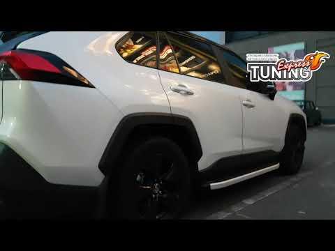 Пороги Тойота Рав 4 5 / Силовые подножки Toyota Rav4 5 / Тюнинг обзор / Запчасти