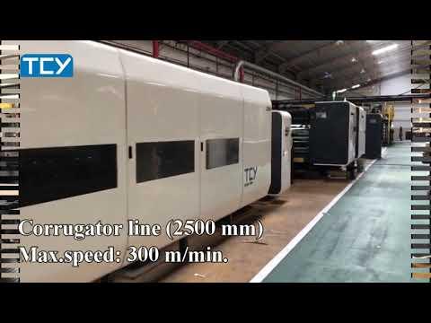 TCY New Corrugator 2500MM Speed 300