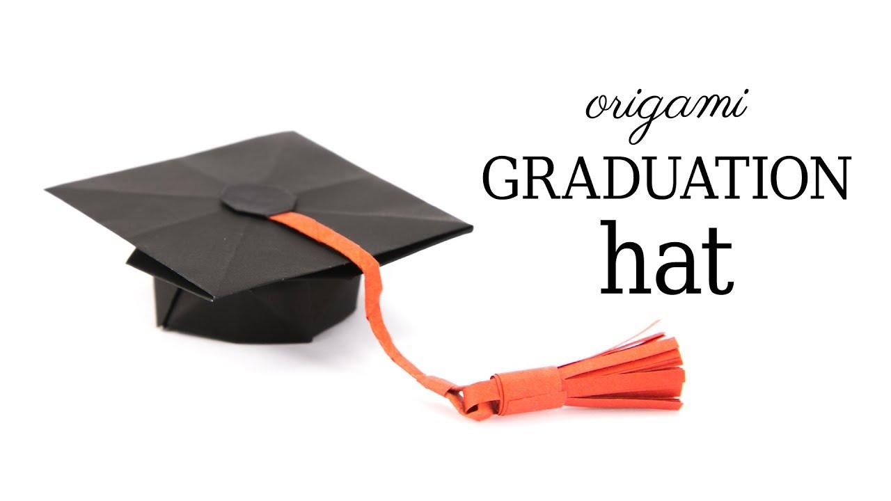 origami graduation hat tutorial