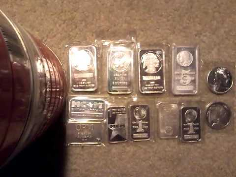 Silver prices below $17 an ounce