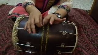 Video #3 बेहद आसान तरीका ढोलक सीखने का। Easy finger movements.dono haathon ka combination.